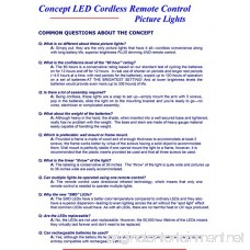 Concept Lighting 201L Cordless Remote Control LED Picture Light Polished Brass Small - B00NVPIKDK