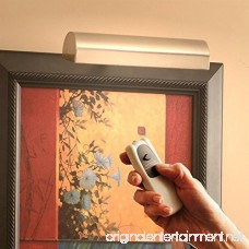 Concept Lighting 205L Cordless Remote Control LED Picture Light Satin Nickel Small - B018A2SBHS