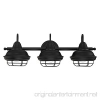 Designers Impressions Charleston Matte Black 3 Light Wall Sconce/Bathroom Fixture: 10011 - B07DVSQVNH