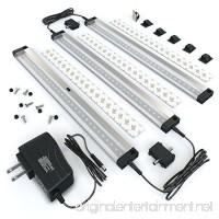 EShine 3 12 inch Panels LED Under Cabinet Lighting  Hand Wave Activated  Warm White (3000K) - B01AFH2EFQ