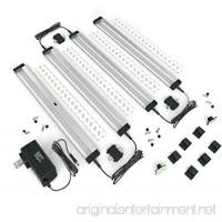EShine 4 Panels 12 Inch LED Under Cabinet Lighting Hand Wave Activated - Deluxe Kit Warm White (3000K) - B01G9H5ZAM