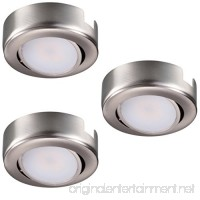 GetInLight Dimmable and Swivel  LED Puck Light Kit with ETL List  Recessed or Surface Mount Design  Warm White 2700K  Brushed Nickel Finish  (Pack of 3)  IN-0107-3-SN - B01JHQIEUU