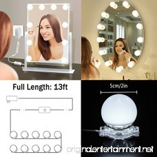 Hollywood Style LED Vanity Mirror Lights Kit with 10 Dimmable Light Bulbs IP65 Waterproof Makeup Lighting Fixture Bulbs for Vanity Table Set in Dressing Room (Mirror Not Include) - B07DZZQCQF