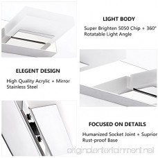 LED Bathroom Vanity Light ieGeek 8W Modern Vanity Light Wall Light Makeup Cabinet Mirror Light Mirror Front Light Stainless Steel/Chrome/Frosted Acrylic/360 Degree Rotation/Cool White/625 LM-2 Lights - B06ZXYPYGJ