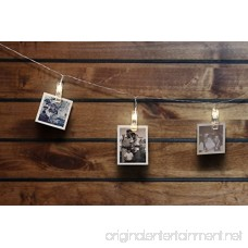 LED Photo Clip String Lights - Qoolivin 5M 20 Clips USB Plug Warm White LEDs Battery Operated Fairy String Lights Bedroom Home Decoration for Hanging Photos Cards and Artwork - B0731D8V5Y