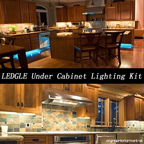 LEDGLE Under Cabinet Lighting Kit 550lm LED Puck Lights 6W