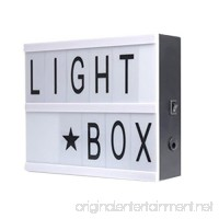 Light Up Your Life A4/A5 Size Cinematic Light Box with Letters and LED Light with Free Combination Letters for Wedding Party Gift (A5) - B07F9X6MM1