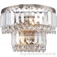 "Magnificence Satin Nickel 10"" Wide Crystal Wall Sconce - B00OCQN0FK"