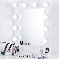 Mirror Vanity Lights  Hollywood Style Makeup Mirror Lights Kit with 10 Dimmable White LED Bulbs and Controller  Waterproof Smart Decor Mirror Lights  Easy to Install in Dressing Room or Bathroom - B07CTBDT1F