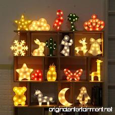 MyEasyShopping Party Decoration 3D LED Nightlight Blue Star - B07DJSQ12N