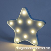 MyEasyShopping Party Decoration 3D LED Nightlight Blue Star - B07DJSQ12N