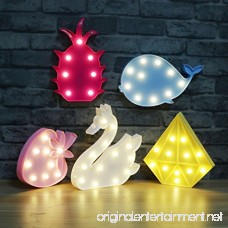 MyEasyShopping Party Decoration 3D Table LED Nightlight Pink Strawberry - B07DJNNQKV