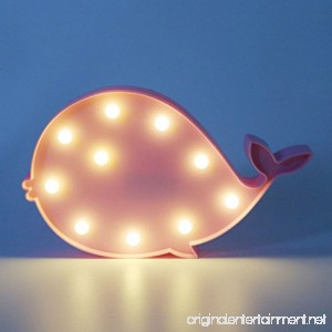 MyEasyShopping Party Decoration 3D Table LED Nightlight Pink Whale - B07DJPG4YH