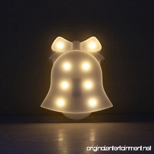 MyEasyShopping Party Decoration 3D Table LED Nightlight White Bell - B07DJPXB99