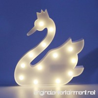 MyEasyShopping Party Decoration 3D Table LED Nightlight White Swan - B07DJPZCBP
