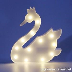 MyEasyShopping Party Decoration 3D Table LED Nightlight White Swan - B07DJPZCBP