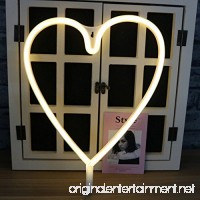 MyEasyShopping Party Decoration USB Rechargeable 3D Table LED Nightlight-Loving Heart - B07DJLHYGZ