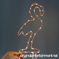 MyEasyShopping Party Decoration Window Picture 3D LED Table Night Light Warm White Flamingo - B07DJNF1KW