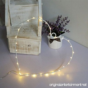 MyEasyShopping Party Decoration Window Picture 3D LED Table Night Light White Heart - B07DJPLZBY