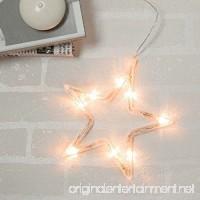 MyEasyShopping Star LED Christmas Decorative Hanging Light Window Sucker Lamp Warm White - B07DJTVMLJ