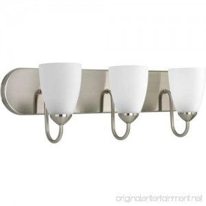 Progress Lighting P2708-09 Gather Collection 3-Light Vanity Fixture Brushed Nickel - B0071K40QW