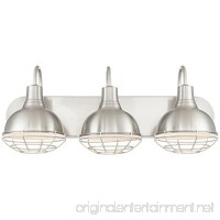 "Revel/Kira Home Liberty 24"" 3-Light Industrial Vanity/Bathroom Light  Brushed Nickel Finish - B07177JM6X"