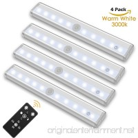 SZOKLED Remote Control LED Lights Bar  Wireless Portable LED Under Cabinet Lighting  Dimmable Closet Light Stair Night Lights Battery Operated  Stick on Anywhere Safe Light for Hallway Kitchen Bedroom - B078PCCDLC