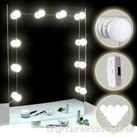 TOMNEW Vanity Mirror Lights  Hollywood Style LED Mirror Lights Kit 10 Dimmable Bulbs Kit for Makeup Dressing Table with Touch Dimmer and Power Supply Plug in Lighting Fixture Strip - B07CYTZBQM