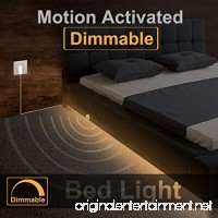 Under Bed Light Willed Dimmable Motion Activated Bed Light 5ft LED Strip with Motion Sensor and Power Adapter Bedroom Night Light Amber for Baby Crib Bedside Stairs Cabinet and Bathroom - B0739PRRB8