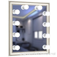URPOWER Vanity Lights  16.4ft/5m 10 LED Bulbs Hollywood Style LED Vanity Mirror Lights USB Powered Make-up Lights for Vanity Mirror with Dimmable White Lights for Makeup Mirror  Mirror Not Include - B078S57TH3