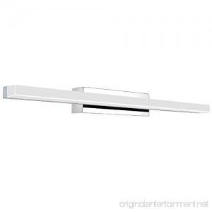 Vanity Light 12W 19.88inches LED Acrylic Rectangle Tube Cool White 6000K for Bathroom/Bedroom YHTlaeh Vanity Light - B07D3MVJBB