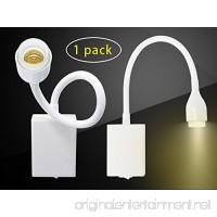 W-LITE 3W LED Hose Spotlight White Flexible Gooseneck Bed Lamp Spotlight for Art Gallery Display Without Plug 3000K Warm White - B075TZGB8G
