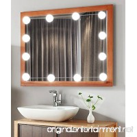 XBUTY Vanity Lights Kit 12 Hollywood Style Light Bulbs 7000K Dimmable Daylight White 17FT/5.2M Hidden Adjustable Length LED Mirror Light for Makeup Dressing Table (Mirror Not Included) - B079GCVN1R