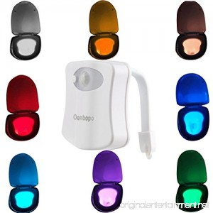 Colorful Motion Sensor Toilet Nightlight ,Oenbopo Home Toilet Bathroom Human Body Auto Motion Activated Sensor Seat Light Night Lamp 8-Color Changes(Only Activates in Darkness) - B01HBESL9O