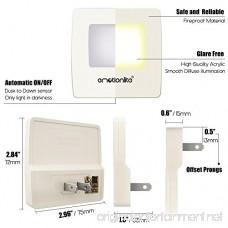 Emotionlite Plug in Night Light Warm White LED Nightlight Dusk to Dawn Sensor Adults Kids Toddler Bedroom Bathroom Kitchen Hallway Stairs Corridor Ultra Slim UL Approved 4 Pack - B075KLB84R