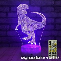 FlyonSea Night Lights for Kids Bedside Lamp 7 Colors Change Remote Control with Timer Kids Night Light optical illusion Lamps for Kids Lamp As a Gift Ideas for Boys or Girls (Dinosaur) - B07CWCD32K