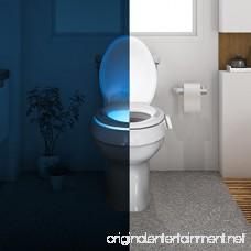 Illumibowl Germ Defense LED Toilet Night Light - Germ Fighting Bright Motion Sensor Light with Endless Color Combinations - Universal Toilet Fit - As Seen on Shark Tank - B00X8J07X0