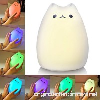 Litake Cat Night Light  USB Rechargeable Night Lights for Kids  Cute Multicolor Silicone Soft Kitty Nursery Lamp with Warm White and 7-Color for Kids  Baby  Children (Celebrity Cat) - B01N67DOAO