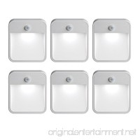 Mr Beams MB726 Stick Anywhere Battery-Powered Wireless Motion Sensor LED Night Light  White  Set of 6 - B00BCCNZ98