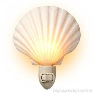 Natural Seashell Night Light - Beach Decor - By Tumbler Home - B01MR2Z876