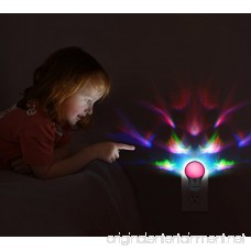 Plug in Night Light Emotionlite LED Projector Nightlight Dusk to Dawn Sensor Multi Colored Rotates for Kids Adults Bedroom Bathroom Hallway Stairways Kitchen Corridor UL Listed 2 Pack - B0776SV38H