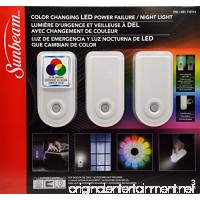 Sunbeam Color Changing LED Power Failure / Night Light 3 Pack - B075NXSKBX