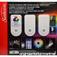 Sunbeam Color Changing LED Power Failure / Night Light 3 Pack - B075NXSKBX