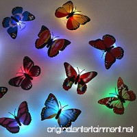 TAKSON LED Butterfly Decoration Light Butterfly sticker wall Light for Garden backyard Lawn Party Festive(12PCS) - B01JHUC25O
