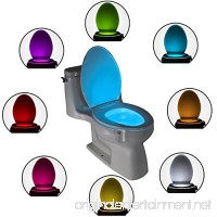The Original Toilet Night Light Gadget - Fun Bathroom Lighting for Toilet Seat - Motion Sensor Activated LED - 9 Color Modes - Weird Novelty Funny Birthday Gag Gifts For Men  Dad  Boys & Toddlers - B01HTU9TLY