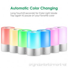 TomCare Table Lamp Night Light Touch Sensor Bedside Lamp Dimmable Nightlight Lamp for Bedrooms Warm White Light & Color Changing RGB Smart Nursery Lamp Nightstand Reading Lamp for Home Office Party - B07BLQXL1L