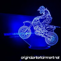 WANTASTE 3D Motocross Lamp  Optical Illusion Night Light for Room Decor & Nursery  Cool Birthday Gifts & 7 Color Changing Toys with Battery Backup for Kids  Boys  Father & Sports Guy - B07B4WXWHN
