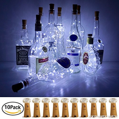 Wine Bottle Lights With Cork Lovenite 10 Pack Battery
