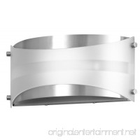 Acciaio Wall Sconce One-Light Lamp Brushed Nickel with White Diffuser - Linea di Liara LL-SC6-BN - B00IO2X0VC