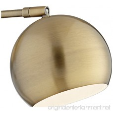 Antique Brass Sphere Shade Pin-up LED Wall Lamps Set of 2 - B078YX8JGX